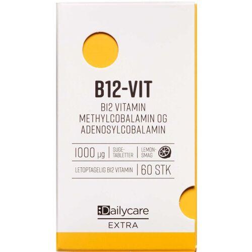 Køb Dailycare ekstra B12-vitamin 1000 mikg 60 stk. online hos apotekeren.dk