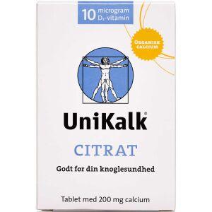 Køb UniKalk Citrat 130 stk. online hos apotekeren.dk