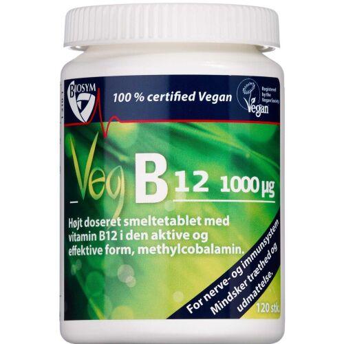 Køb Biosym Veg B12 smeltetablet 120 stk. online hos apotekeren.dk