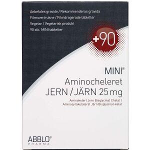 Køb ABBLO MINI Aminocheleret Jern 25mg. 90 stk. online hos apotekeren.dk