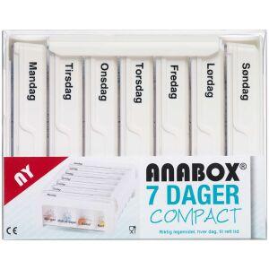 Køb Anabox Compact 7 dage hvid 1 stk. online hos apotekeren.dk