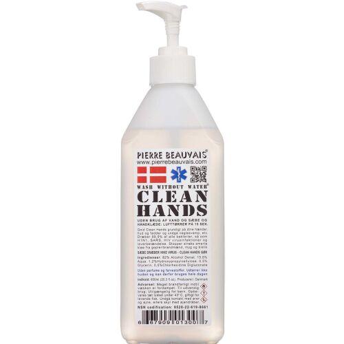 Køb Pierre Beauvais Clean Hands håndsprit 600 ml online hos apotekeren.dk
