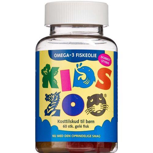 Køb Kids Zoo Omega-3 dobbeltstyrke kosttilskud 60 stk. online hos apotekeren.dk