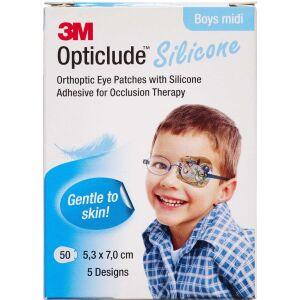 Køb 3M Opticlude Skeleplaster boy medi 5,3x7,0 cm 50 stk. online hos apotekeren.dk