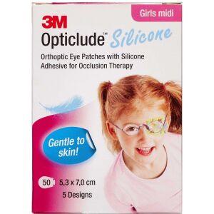 Køb 3M Opticlude Skeleplaster girl medi 5,3x7,0 cm 50 stk. online hos apotekeren.dk