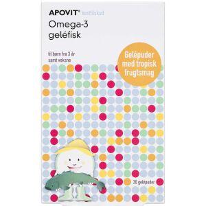 Køb Apovit Omega-3 geléfisk 30 stk. online hos apotekeren.dk
