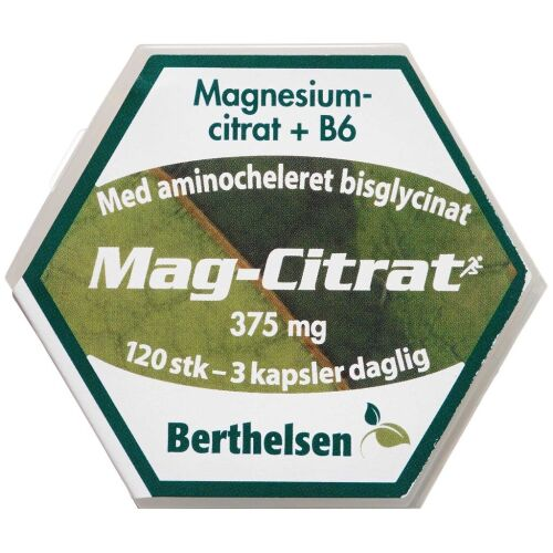 Køb Berthelsen Mag-Citrat kapsler 120 stk. online hos apotekeren.dk