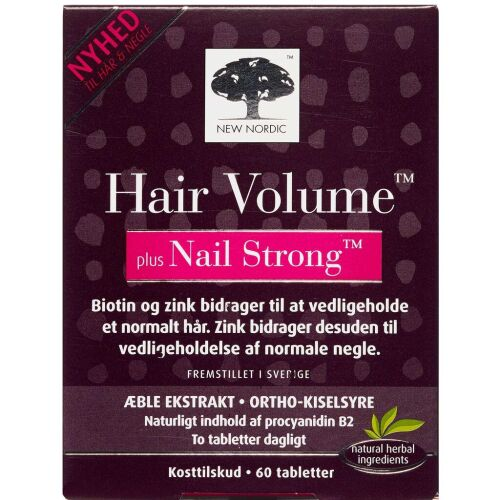 Køb Hair Volume Plus Strong Nails tabletter 60 stk. online hos apotekeren.dk