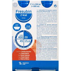 Køb Fresubin 2 kcal drink Tomat/gulerod 4 x 200 ml online hos apotekeren.dk