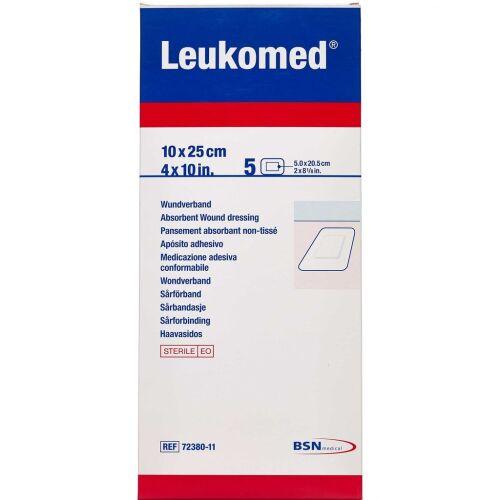 Køb Leukoplast Leukomed 10 cm x 25 cm 5 stk. online hos apotekeren.dk