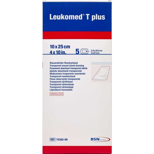 Køb Leukoplast Leukomed T plus 10 cm x 25 cm 5 stk. online hos apotekeren.dk