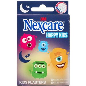 Køb Nexcare Happy Kids Monsters ass. 20 stk. online hos apotekeren.dk