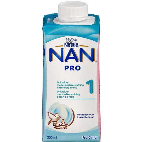 Køb NAN Pro 1 drikkeklar 200 ml online hos apotekeren.dk