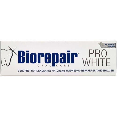 Køb Biorepair tandpasta Pro White 75 ml online hos apotekeren.dk