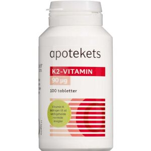 Køb Apotekets K2 - Vitamin tabletter 100 stk. online hos apotekeren.dk