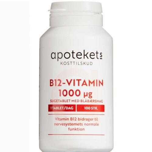 Køb Apotekets B12 vitamin sugetabletter 100 stk. online hos apotekeren.dk