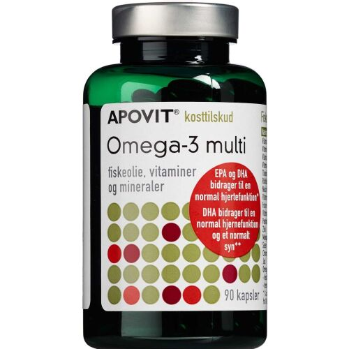 Køb Apovit Omega-3 multi kapsler 90 stk. online hos apotekeren.dk
