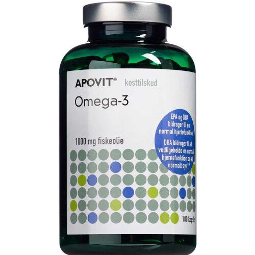 Køb Apovit Omega-3 1000 mg 180 stk. online hos apotekeren.dk
