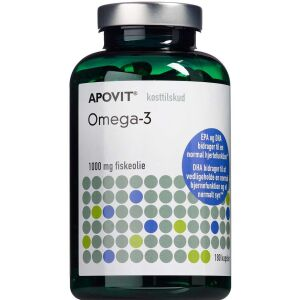 Køb Apovit Omega 3 1000 mg 180 stk. online hos apotekeren.dk