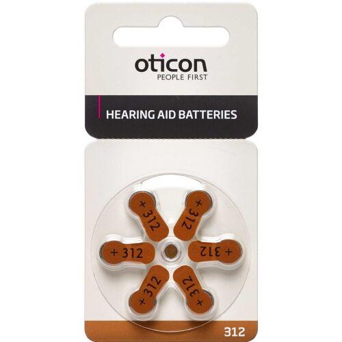 Køb Oticon batterier til høreapparater nr. 312 6 stk. online hos apotekeren.dk