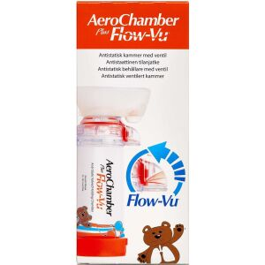 Køb Aerochamber PlusFlow Vu small orange 0-18 måneder 1 stk. online hos apotekeren.dk