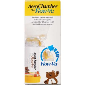 Køb Aerochamber PlusFlow Vu medium gul 1-5 år 1 stk. online hos apotekeren.dk