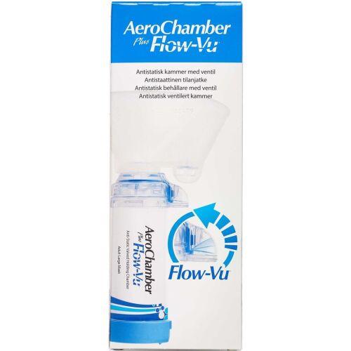Køb Aerochamber Plus Flow-vu maske voksen Large blå 1 stk. online hos apotekeren.dk