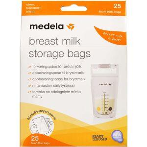 Køb Medela Opbevaringsposer til mælk 25 stk. online hos apotekeren.dk