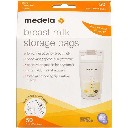 Køb Medela Opbevaringsposer til mælk 50 stk. online hos apotekeren.dk