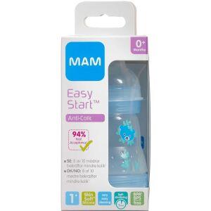 Køb MAM Anti-Colic Sutteflaske Blue 160 ml 1 stk. online hos apotekeren.dk