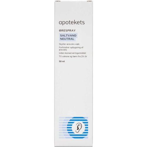 Køb Apotekets ørespray saltvand neutral 50 ml online hos apotekeren.dk