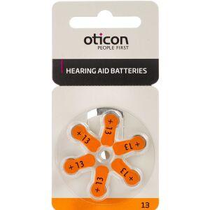 Køb Oticon Zinc Air Batterier OT. 13 6 stk. online hos apotekeren.dk