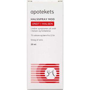 Køb Apotekets halsspray 20 ml online hos apotekeren.dk