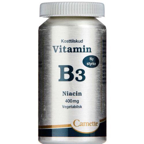 Køb Camette Vitamin B3 - Niacin 400 mg 90 stk. online hos apotekeren.dk
