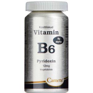 Køb Camette Vitamin B6 - Pyridoxin 12 mg 90 stk. online hos apotekeren.dk