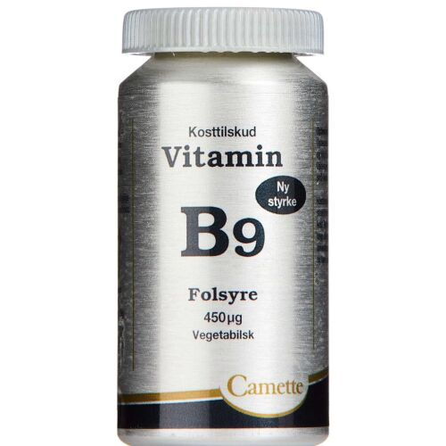 Køb Camette Vitamin B9 - Folsyre 450 mcg 90 stk. online hos apotekeren.dk