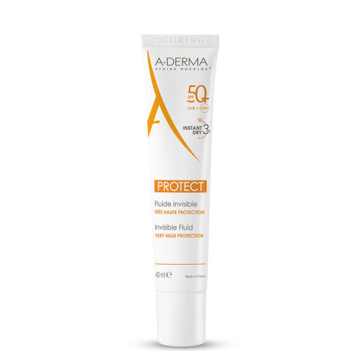 Køb A-Derma Protect Invisible Fluid SPF50+ 40 ml online hos apotekeren.dk