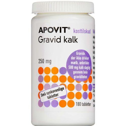 Køb Apovit gravid kalk 250 mg 180 stk. online hos apotekeren.dk