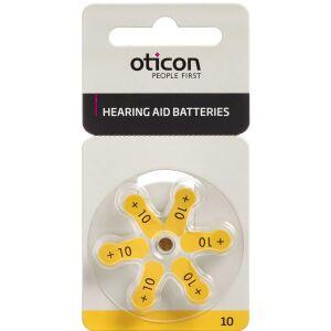 Køb Oticonbatterier til høreapparater - 10 6 stk. online hos apotekeren.dk