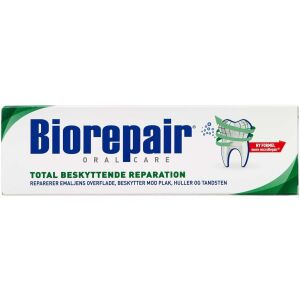 Køb Biorepair tandpasta total 75 ml online hos apotekeren.dk