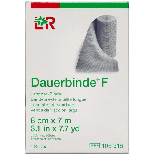 Køb Dauerbind F Lohmann 8 cm x 7 m 1 stk. online hos apotekeren.dk