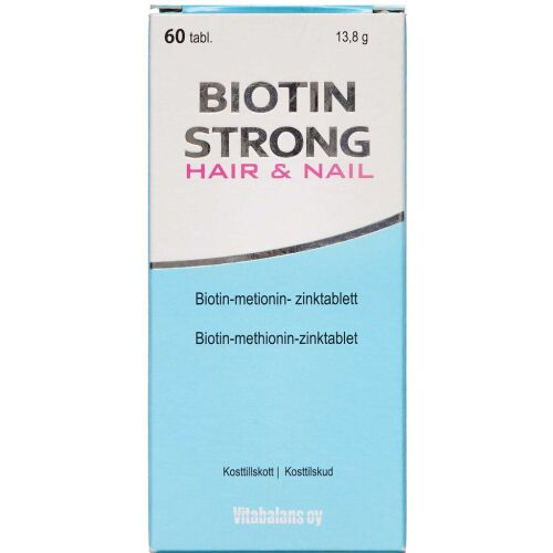 Køb Biotin Strong tabletter 60 stk. online hos apotekeren.dk