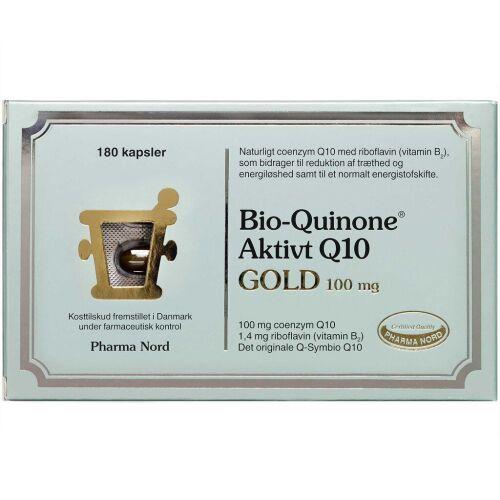 Køb Bio-Quinone Aktivt Q10 Gold kaspler 180 stk. online hos apotekeren.dk