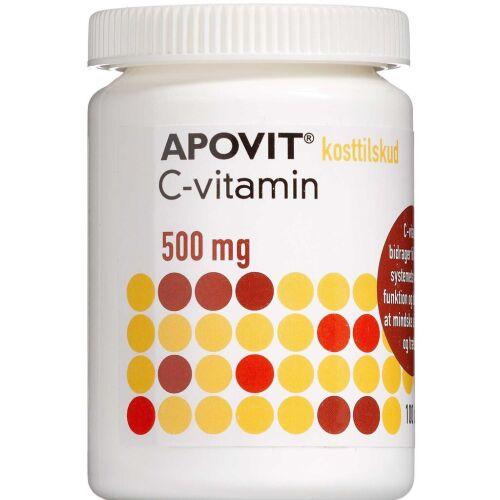 Køb Apovit C-vitamin 500 mg 100 stk. online hos apotekeren.dk