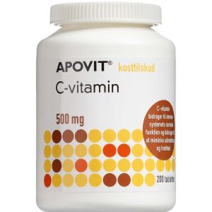 Køb Apovit C-vitamin 500 mg 200 stk. online hos apotekeren.dk