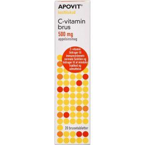 Køb Apovit C-vitamin stærk brus - appelsinsmag 20 stk. online hos apotekeren.dk