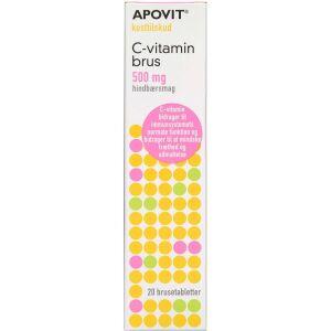 Køb Apovit C-vitamin stærk brus - hindbærsmag 20 stk. online hos apotekeren.dk