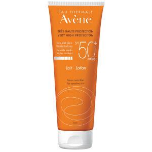 Køb Avene Sun Lotion SPF50+ 250 ml online hos apotekeren.dk