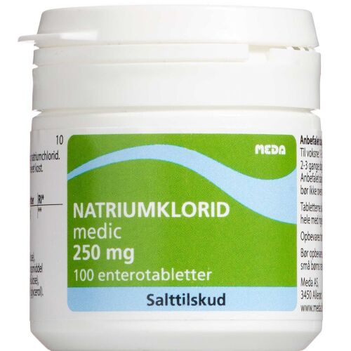 Køb Natriumklorid 250 mg Enterotabletter 100 stk. online hos apotekeren.dk