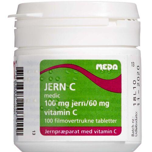 Køb Jern C medic tabletter 100 stk. online hos apotekeren.dk